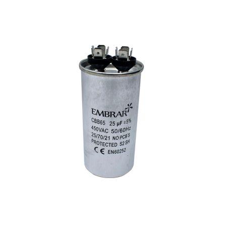 Capacitor Permanente ou de Partida 25uF